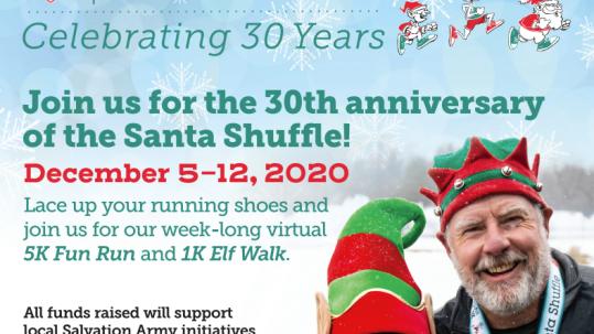 santa shuffle poster